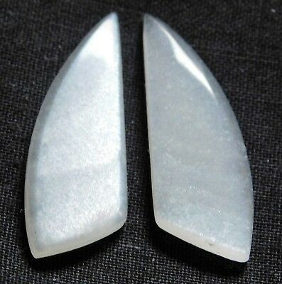 16.05 Cts Natural MoonStone (30.3mm X 11mm Each) Loose Cabochon Match Pair 13