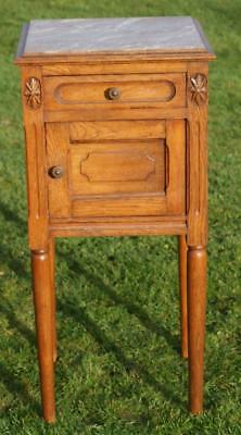 A FINE EARLY 20th CENTURY FRENCH OAK EMPIRE STYLE  BEDSIDE CABINET