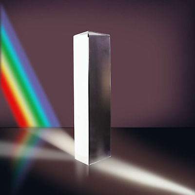 3.9'' 10cm Optical Glass Triple Triangular Prism Physics Teaching Light Spectr H