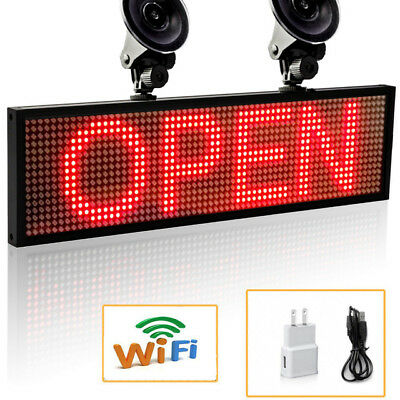 Leadleds LED Car Sign Programmable Scrolling Message Display Board + Suction Cup