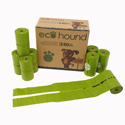 Ecohound SMALL Dog Poo Bags With Handles Oxo-Biodegradable Dog Waste Bag Rolls