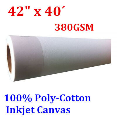 """(380gsm) Water Resistant Matte Poly-Cotton Inkjet Canvas 42"""" x 40´"""