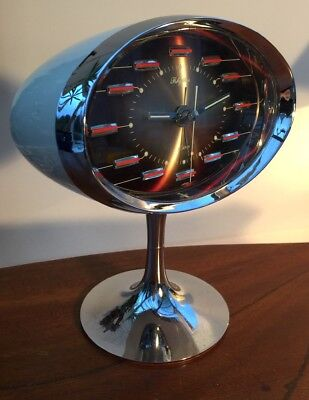 Vintage - Retro - Rhythm - Mechanical - Space Age - Rare - Alarm Clock