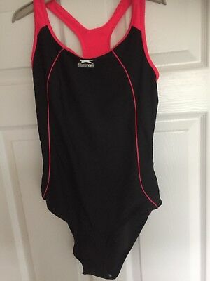 Ladies Slazenger Swimsuit Swimming Costume Racer Back Swimwear Size