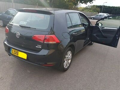2015 AUTO VW GOLF 1.6 TDi, DSG GEARBOX, LOW 7k MILEAGE, CAT B, EXPORT OR SPARES,