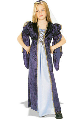 Child Juliet Costume Romeo Shakespeare Girls Book Week Day Fancy Dress Outfit