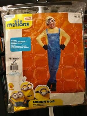 Rubies Minions Bob Costume Toddler Child Halloween 3-4 Yrs New Retail $25