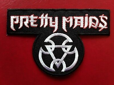 Pretty Maids Danish Heavy Hard Metal Rock Music Band Embroidered Patch Uk Seller