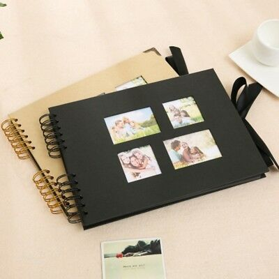 40 Sheets Photo Album Cardboard Book Ring Binder DIY Photograph Scrapbook Gift