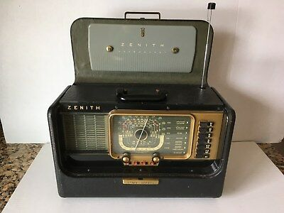 Vintage 1951 Zenith H500 Trans-Oceanic Radio With Original Owner's Manual & More
