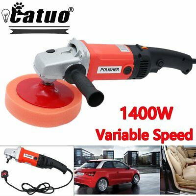 "1600W 6-Speed 7"" Electric Polisher Buffer Waxer Car Truck Van Boat Sander"
