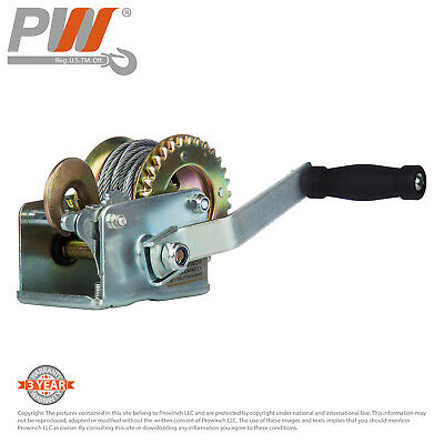 ProWinch Manual Winch 600 lbs. Dual Gear 25 ft. Wire Rope
