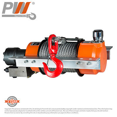 ProWinch Hydraulic Winch w/Tensioner 11,000 lbs. Heavy Duty Wire Rope and Hook
