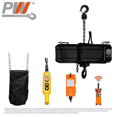 ProWinch Wireless Chain Stage Hoist 550 lbs. 40 ft. 110/220V