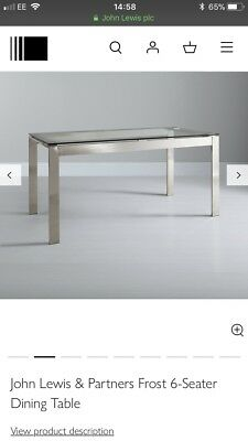 a30d99ba958 JOHN LEWIS FROST Glass Dining Table 6 Seater - £180.00