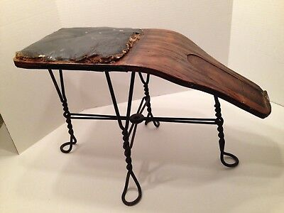 OLD WOOD & WIRE SHOE STORE SALESMAN BENCH STOOL c. 1890's