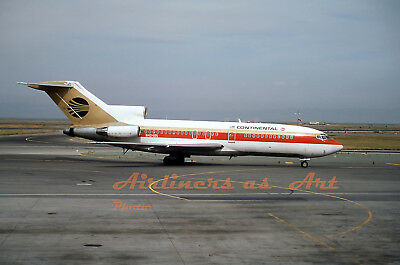 "Continental Airlines Boeing 727-22 N40485 at SFO in May 1984 8""x12"" Color Print"