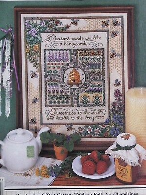 """Gathering Honey"" X stitch Chart from OOP Magazine ~ Stitch CT. 180 H x 140 W"