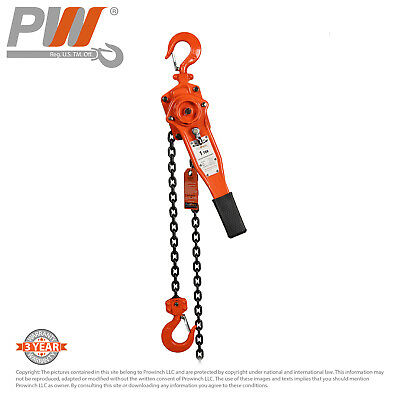 ProWinch Lever Chain Hoist 1 ton 2,200 lbs 5 ft G80 Black Tempered Chain