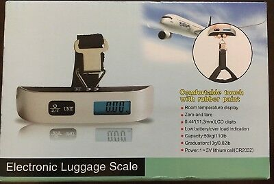 50kg/110lb Portable Travel LCD Digital Hanging Luggage Scale Electronic Weight