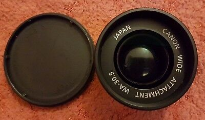 Canon Japan Wide Lens Attachment wa-30.5 with caps 30.5mm