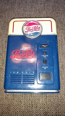 Vintage 1998 Pepsi-Cola Vending Machine Design Coin Sorter Bank