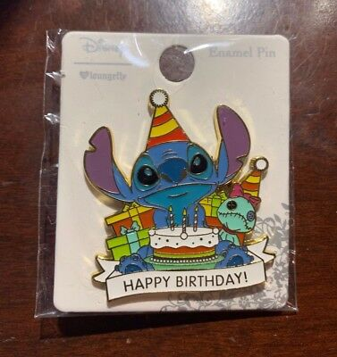Disney Stitch Scrump Pin BoxLunch Loungefly Limited Edition Happy Birthday Lilo