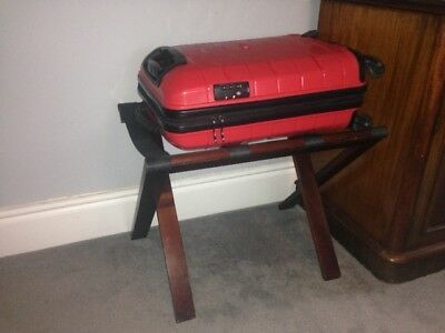Folding Mahogany Luggage Rack Suitcase Stand 4 Hotel/Guest House/BnB