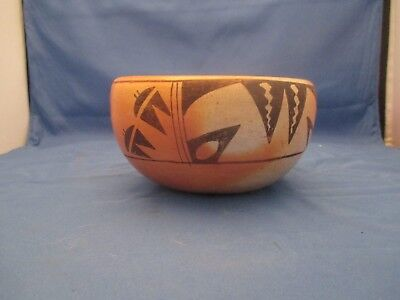 Vintage Hopi Pottery Bowl Early Traditional Painting