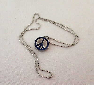 Vintage Peace and Love watch necklace