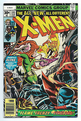 X-Men 105 NM 9.4 1st Print Firelord Appearance Mark Jewellers Insert