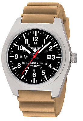 Luxury Mens Military Sports Watch C1-Light Date Date Silicone KHS Germany 10 ATM
