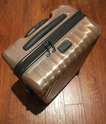 Tumi 19 Degree Continental Carry-on Copper/Rose Gold Spinner Luggage 228661