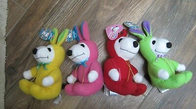4 Peanuts Snoopy Easter bunny rabbit Whitman candy plush toy