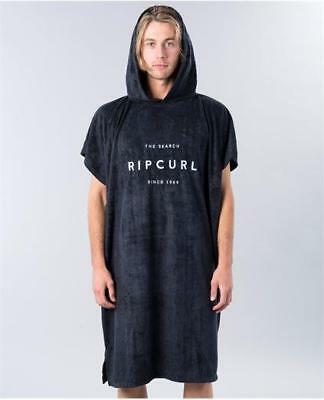 Rip Curl PROMO VALLEY HOODED TOWEL PONCHO Beach Surf Towel New - Black