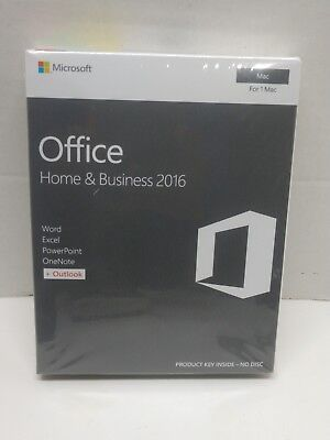 Microsoft office home and business 2016 for 1 Mac English Eurozone New Sealed