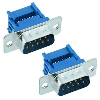 2 x 9-Way IDC Male D Plug Connector