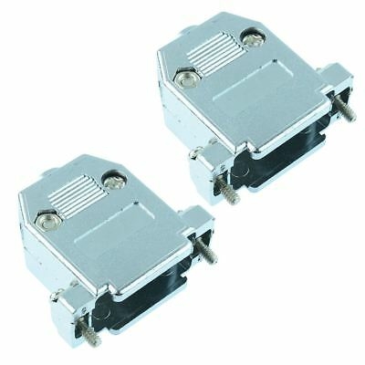 2 x 15-Way Metallised D Connector Hood Cover