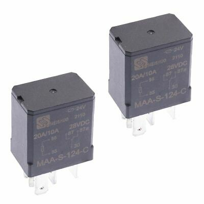2 x 24V Micro Automotive Changeover Relay 30A 5-Pin SPDT Auto