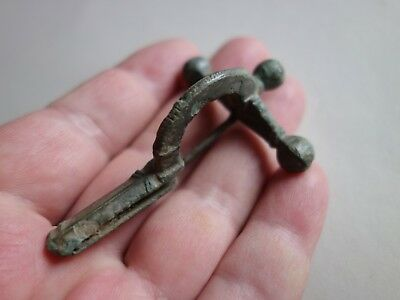 ancient Roman bronze crossbow brooch circa 4th century used by military
