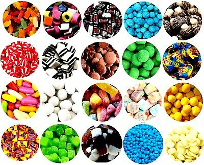 Pick n Mix RETRO SWEETS OVER 100 CHOICES 600g 1KG MILLIONS HALLOWEEN Christmas