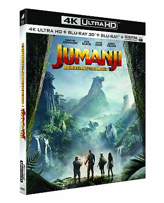 Jumanji : Bienvenue dans la jungle [4K Ultra HD + Blu-ray 3D + Blu-ray + Digital