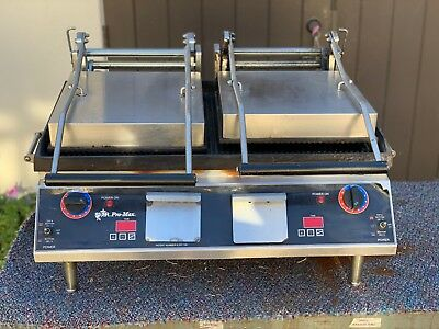 Star Grooved 2-Sided Double Sandwich Panini Grill