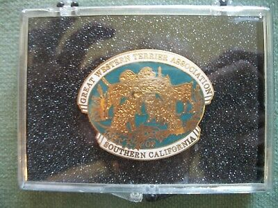 Great Western Terrier Association Dog Show Trophy Medallion Pins Broach