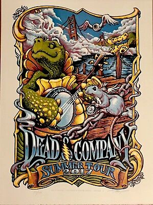 Dead & Company 2017 Summer Tour Poster VIP EXCLUSIVE! #293 Out Of 1530 & Signed