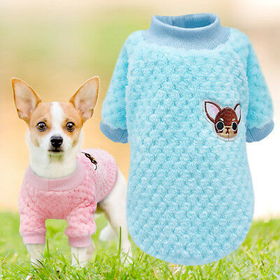 Dog Sweater Knitted Embroidery Chihuahua Clothes Pet Puppy Cat Winter Knitwear