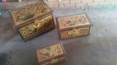 3 Decorative South African chests