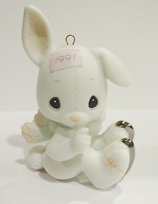 Precious Moments Ornamet  Bunny with skates on 1991 dated
