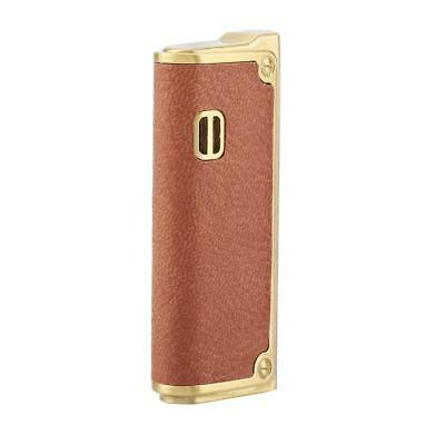 Portable PU Leather Metal Windproof Inflatable Butane Gas Lighter Multifunction