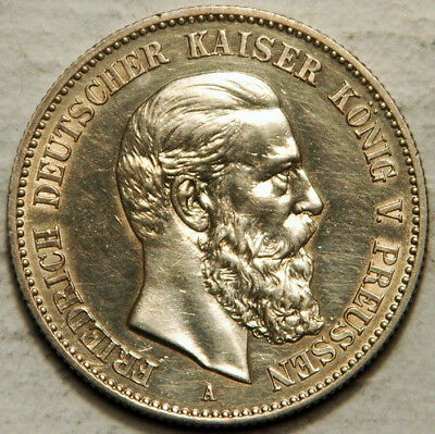 Prussia (Germany) Silver 2 Marks 1888